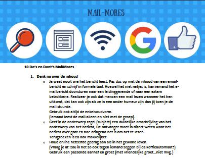 Mail Mores - 10 Do's en Don'ts in ??n pdf