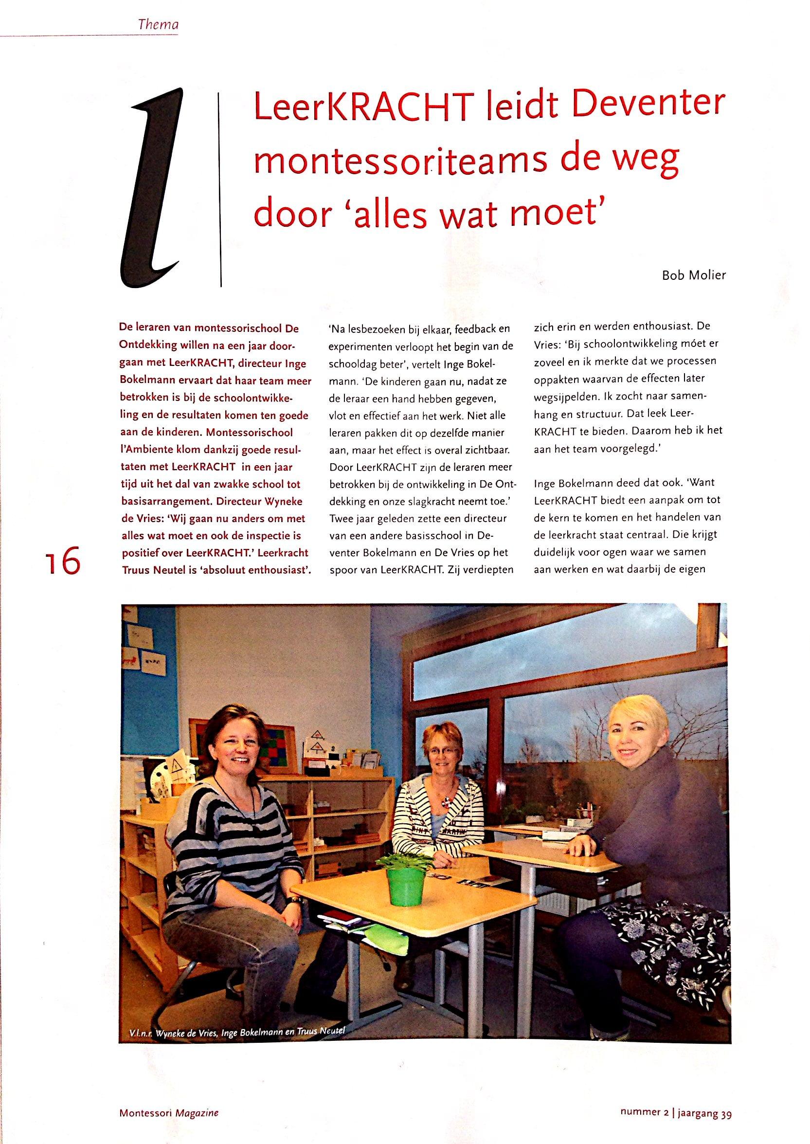 LeerKRACHT in Montessori Magazine